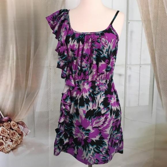 Envy Me Dresses & Skirts - Envy Me One Shoulder Purple Dress